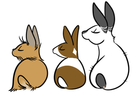 Bunny Butts by Fyuvix