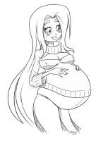 Preggo Fluttershy by Marrazan