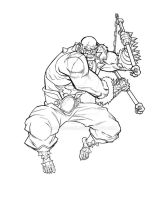 Panthro Black and White version by Uncle-Gus