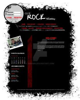 ROCK Fellowship Website Layout by Ariarin