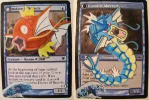 MTG alter: Magikarp Delver of Secrets by OhMaiAlters