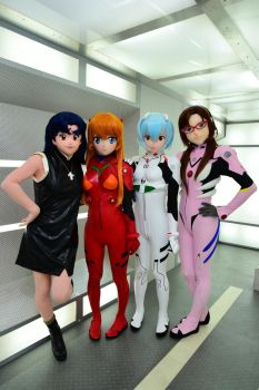 Evangelion four charactors by doller98-TAKA