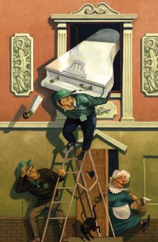 Misters, lift a grand piano by Waldemar-Kazak
