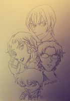 Detective Conan Collage (Countdown) - colorless by LucaHennig