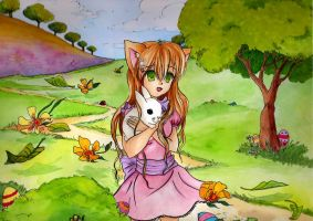Contest Entry: Spring Neko by Hitomi97