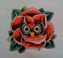 Owl Rose thingy by Kirzten