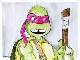 TMNT Watercolor - Donatello by JesseAcosta