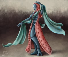 Comission. Leiah the Quarian Princess by jamescorck
