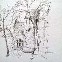 Budapest castle sketch by reves-a-colorier