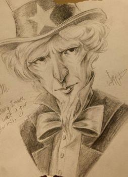 Uncle Sam Portrait  by jacAlcyon