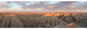 Badlands Panorama by Julian-Bunker