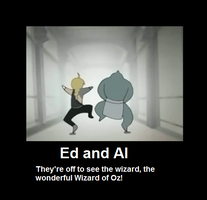 Ed and Al Poster by InvaderPumpkinQueen