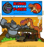 Kong VS T-Rex 002 by BongzBerry