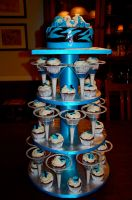 21st birthday cupcakes full display by Keep-It-Sweet