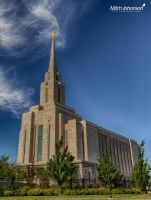 LDS Oquirrh Temple HDR by mjohanson