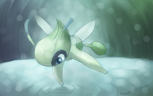 Celebi--Watercolor Practice by Togechu