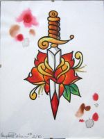 Rose and Dagger by IAteAllMyPaste