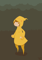 Girl in Yellow Hoodie by knitetgantt