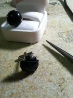 Onyx Cuff Links by cleveroctober