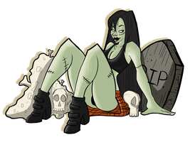Zombie pin up 2 by WatchTehTail