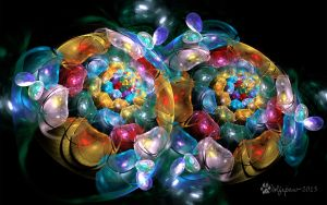 Fractal Jewel Bubble Blossoms by wolfepaw