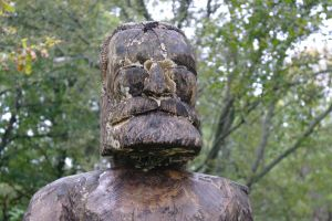 Statue in pitlochry woods by RichardNewlands