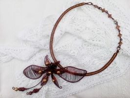 Copper flower necklace by Mirtus63