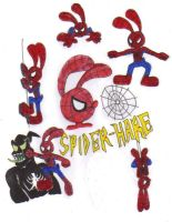 Spider-Hare Collage by KessieLou