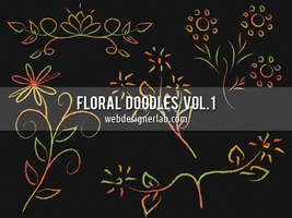 Floral Doodles Brushes (Vol. 1) by xara24