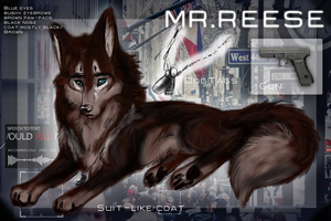 Person of Interest Canines Ref: Mr. Reese by AgentWhiteHawk