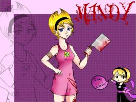 Mandy(Grim adventures) and Rose(Homestuck) by KawaiiAngel23