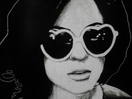 Brody Dalle Scratchboard by FrankTheSixFootBunny
