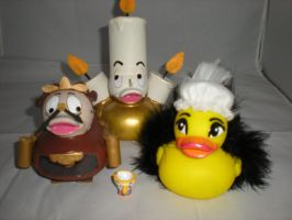 Lumiere, Cogsworth, Chip and Babbette by Oriana-X-Myst