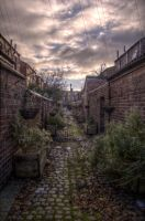 Alleyway Garden HDR by johnwaymont