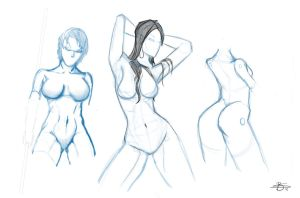 Female anatomy and dynamic figure drawing1 by Bonino