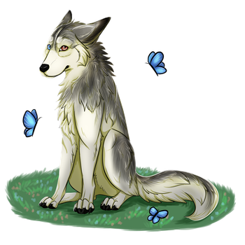Sitting pup by wolfie115