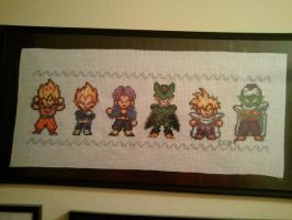 Dragonball Z cross stitch sampler by avatarswish