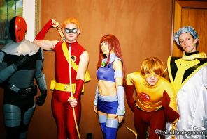 Teen Titans Group by rabidfanboy
