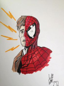 Spiderman/Peter Parker Sketch by WillWatt