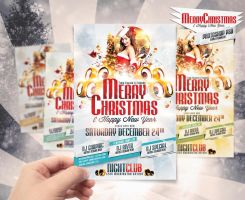 Merry Christmas Party Flyer by DesignFathoms