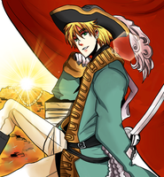 APH: Pirate Arthur by Chaltiere