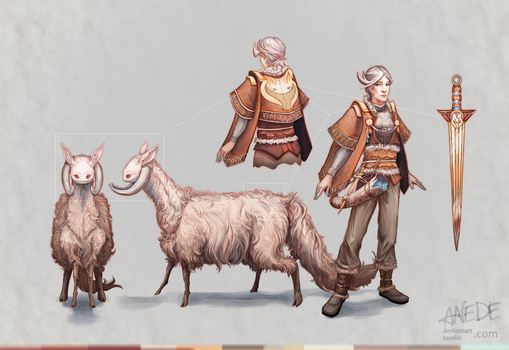 Girl and the Sheep by ANeDe