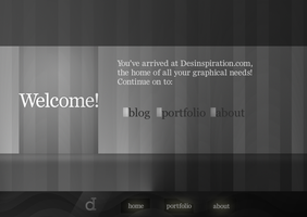 desinspiration: welcome page by hugorr