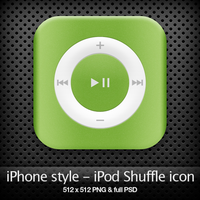 iPhone style - iPod icon by YaroManzarek