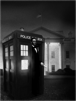Abe Lincoln in His Tardis by KatGryffin