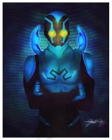 Blue beetle by Dark-j0n