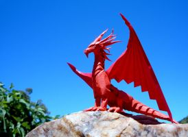Red Dragon Perched by Richi89