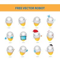 free vector robot by harridan