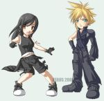 Cloud + Tifa kids by ferus