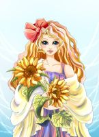 Sunflower Girl by doraling12